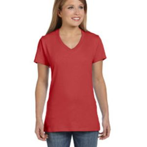 Ladies' 4.5 oz., 100% Ringspun Cotton nano-T® V-Neck T-Shirt Thumbnail