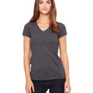 Ladies' Jersey Short-Sleeve V-Neck T-Shirt Thumbnail