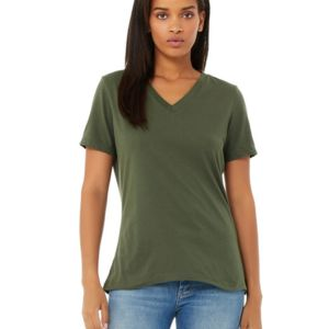 Ladies' Relaxed Jersey V-Neck T-Shirt Thumbnail