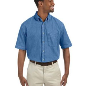 Men's 6.5 oz. Short-Sleeve Denim Shirt Thumbnail