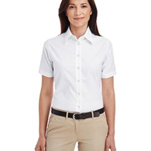 Ladies' Short-Sleeve Oxford with Stain-Release Thumbnail