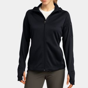 Ladies Tech Fleece Full Zip Hooded Jacket Thumbnail