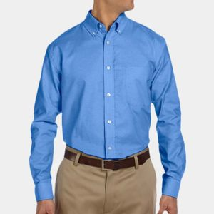 Men's Long-Sleeve Oxford with Stain-Release Thumbnail
