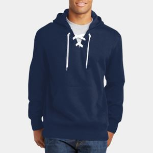 Lace Up Pullover Hooded Sweatshirt Thumbnail