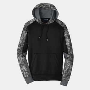 Sport Wick ® Mineral Freeze Fleece Colorblock Hooded Pullover Thumbnail